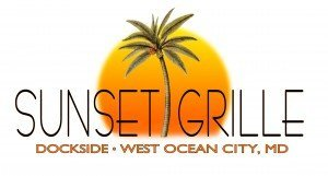 Sunset Grille Dockside Logo used for Hooked on OC's website