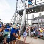 Hanging up a white marlin during white marlin open 2015 in Ocean City MD