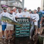 Team of 8 displaying their mahi mahi and tuna fish for white marlin open 2015
