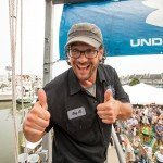 Guy giving a thumbs up to the camera during White Marlin open 2015