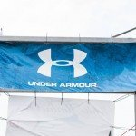 Blue Under Armour sign on display during White Marlin Open 2015