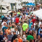 Dock in Ocean City MD completely full and crowded during White marlin open