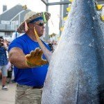 Close up of a tunas body and yellow fins during white marlin open 2015