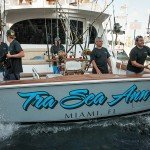 Crew of the Tra Sea Ann fishing boat coming into dock in Ocean City MD