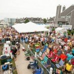 Aerial shot of the crowd at White marlin open 2015 in Ocean City MD
