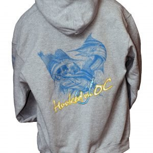 hooked on oc sweatshirt gray